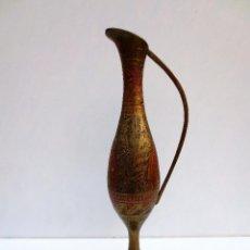 Antigüedades: JARRA DE LATON / BRONCE MADE INDIA. . Lote 73029551