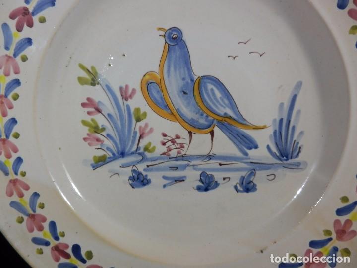 Antigüedades: Plato de cerámica antiguo, catalán. 32 cm. Buen estado - Foto 2 - 73037875