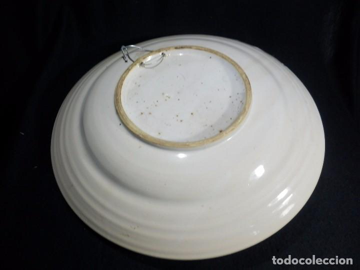 Antigüedades: Plato de cerámica antiguo, catalán. 32 cm. Buen estado - Foto 4 - 73037875