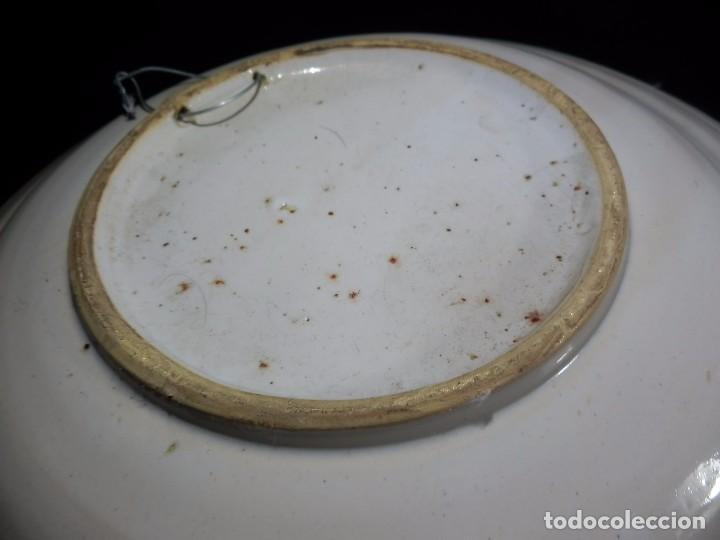 Antigüedades: Plato de cerámica antiguo, catalán. 32 cm. Buen estado - Foto 5 - 73037875