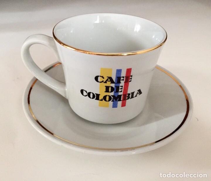 Juego de taza y plato con logo caf de colombia comprar for Juego tazas cafe