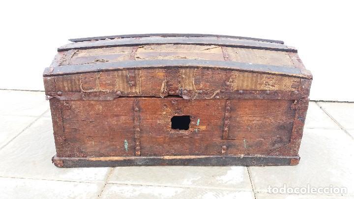 ARCA BAÚL O ARCON DE MADERA MUY ANTIGUO (Antigüedades - Muebles Antiguos - Baúles Antiguos)