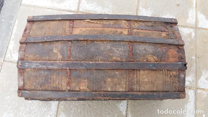 Antigüedades: Arca baúl o arcon de madera muy antiguo - Foto 2 - 73045491