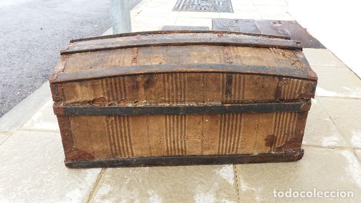 Antigüedades: Arca baúl o arcon de madera muy antiguo - Foto 3 - 73045491