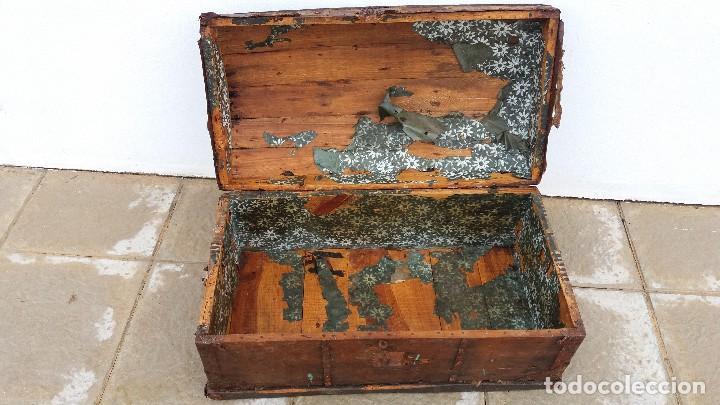 Antigüedades: Arca baúl o arcon de madera muy antiguo - Foto 4 - 73045491