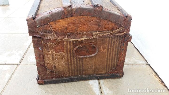 Antigüedades: Arca baúl o arcon de madera muy antiguo - Foto 7 - 73045491