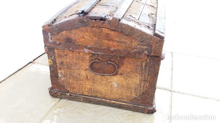 Antigüedades: Arca baúl o arcon de madera muy antiguo - Foto 8 - 73045491