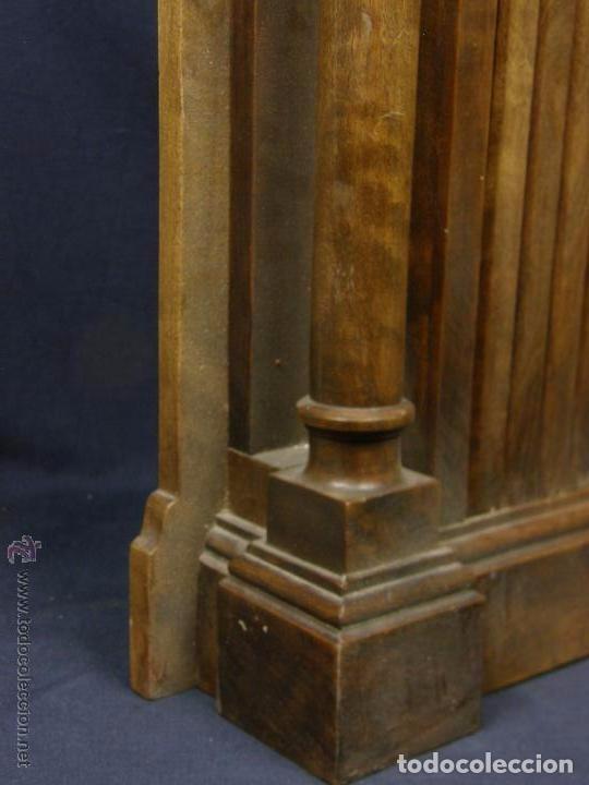 Antigüedades: Hornacina expositor nogal sagrario puertas persiana columnas pinaculos neogotica - Foto 4 - 73048971