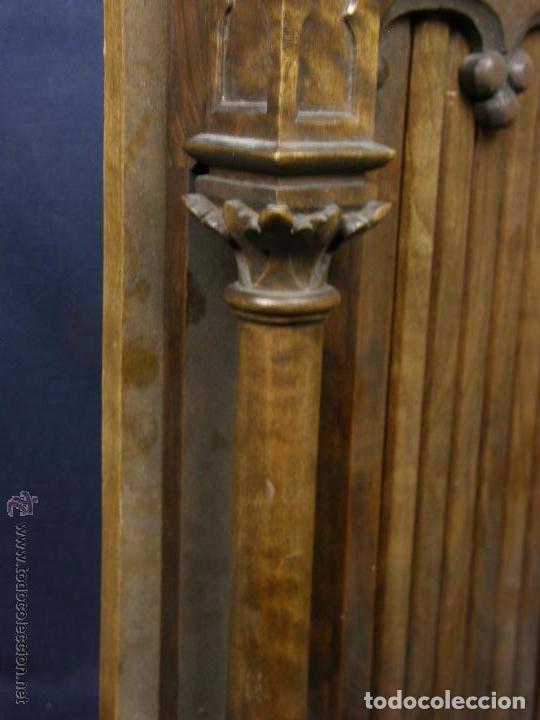Antigüedades: Hornacina expositor nogal sagrario puertas persiana columnas pinaculos neogotica - Foto 5 - 73048971