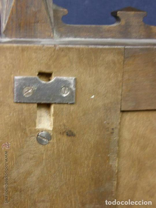 Antigüedades: Hornacina expositor nogal sagrario puertas persiana columnas pinaculos neogotica - Foto 12 - 73048971