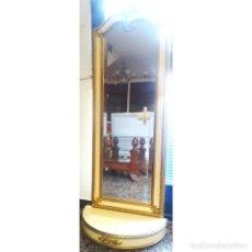 Antigüedades: CONSOLA MARFIL ORO CON ESPEJO. Lote 73072271