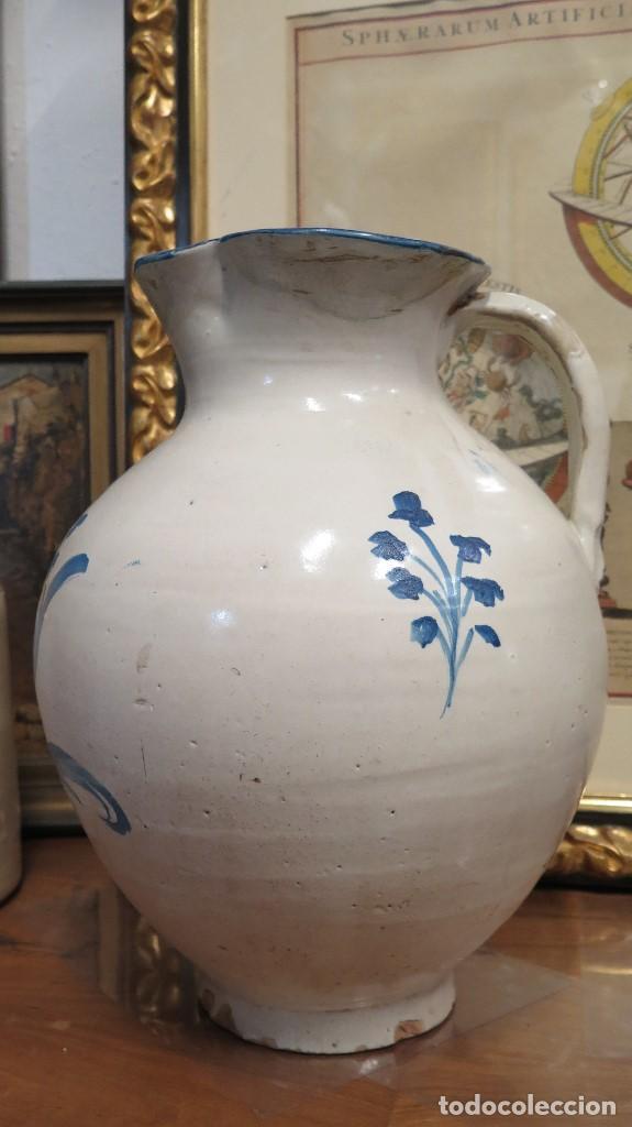 Antigüedades: ENORME JARRA DE TALAVERA. SERIE FLOR ADORMIDERA. SIGLO XVIII - Foto 4 - 73129263