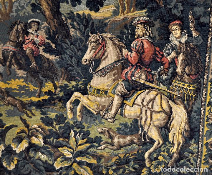 Antigüedades: GIGANTESCO TAPIZ DE APROXIMADAMENTE FINALES DEL SIGLO XIX. 200 CM. X 122 CM. - Foto 6 - 73193259