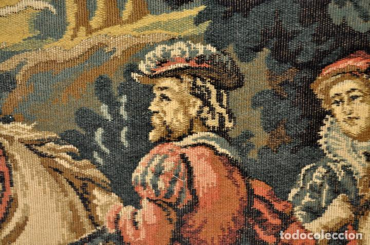 Antigüedades: GIGANTESCO TAPIZ DE APROXIMADAMENTE FINALES DEL SIGLO XIX. 200 CM. X 122 CM. - Foto 8 - 73193259