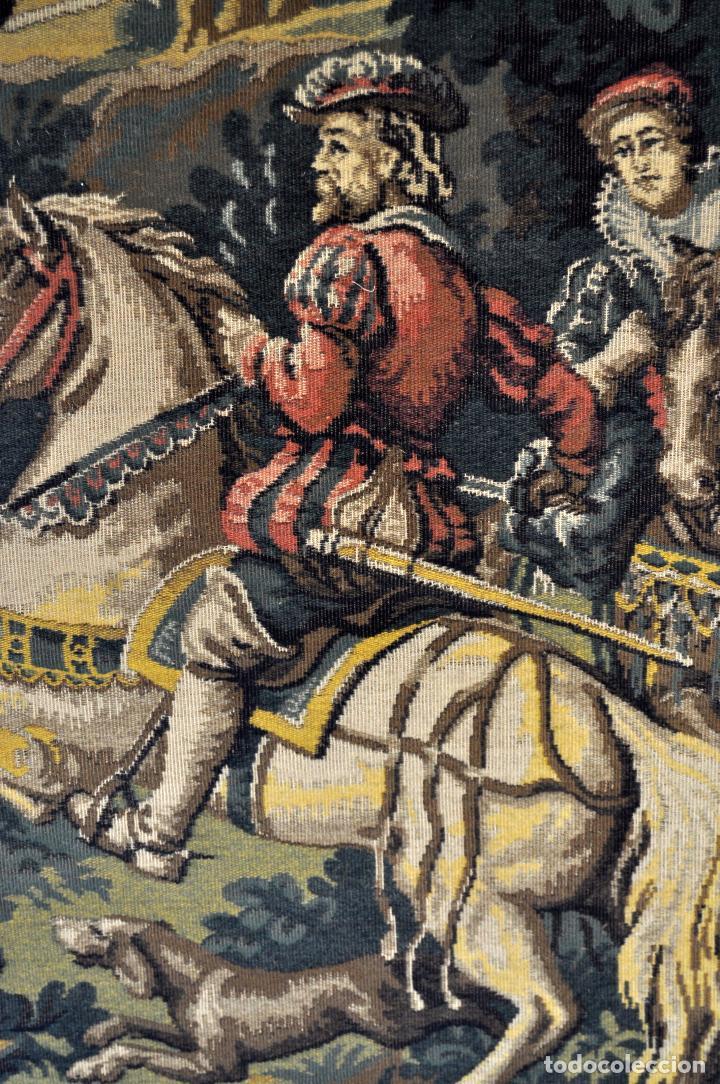 Antigüedades: GIGANTESCO TAPIZ DE APROXIMADAMENTE FINALES DEL SIGLO XIX. 200 CM. X 122 CM. - Foto 9 - 73193259