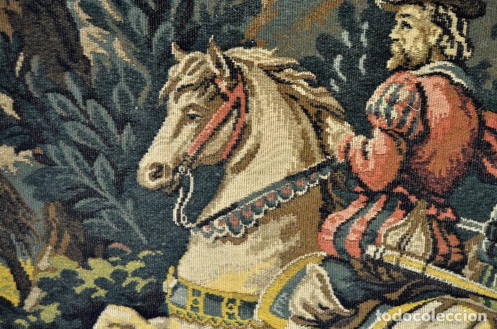 Antigüedades: GIGANTESCO TAPIZ DE APROXIMADAMENTE FINALES DEL SIGLO XIX. 200 CM. X 122 CM. - Foto 10 - 73193259