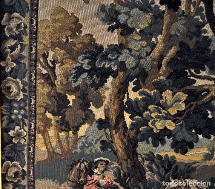 Antigüedades: GIGANTESCO TAPIZ DE APROXIMADAMENTE FINALES DEL SIGLO XIX. 200 CM. X 122 CM. - Foto 11 - 73193259