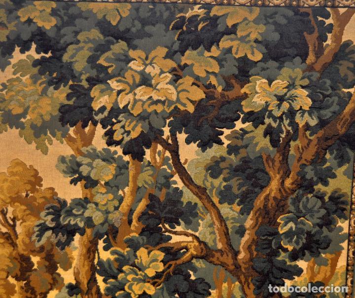 Antigüedades: GIGANTESCO TAPIZ DE APROXIMADAMENTE FINALES DEL SIGLO XIX. 200 CM. X 122 CM. - Foto 13 - 73193259