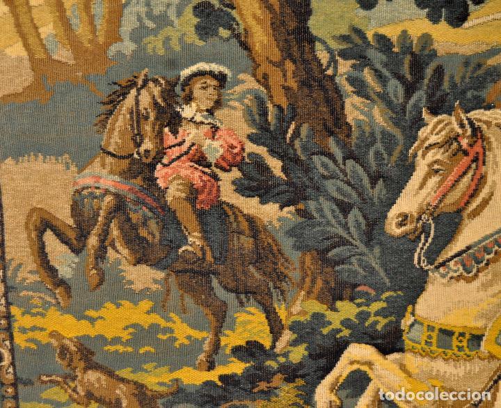 Antigüedades: GIGANTESCO TAPIZ DE APROXIMADAMENTE FINALES DEL SIGLO XIX. 200 CM. X 122 CM. - Foto 14 - 73193259
