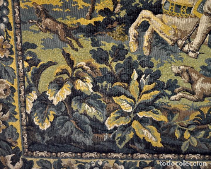 Antigüedades: GIGANTESCO TAPIZ DE APROXIMADAMENTE FINALES DEL SIGLO XIX. 200 CM. X 122 CM. - Foto 17 - 73193259