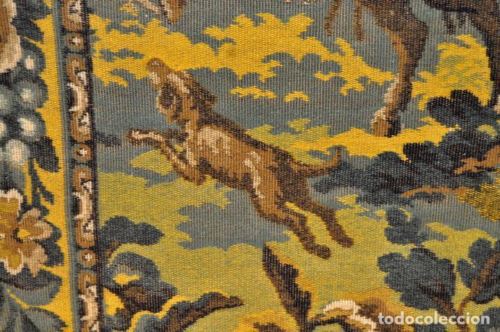 Antigüedades: GIGANTESCO TAPIZ DE APROXIMADAMENTE FINALES DEL SIGLO XIX. 200 CM. X 122 CM. - Foto 19 - 73193259
