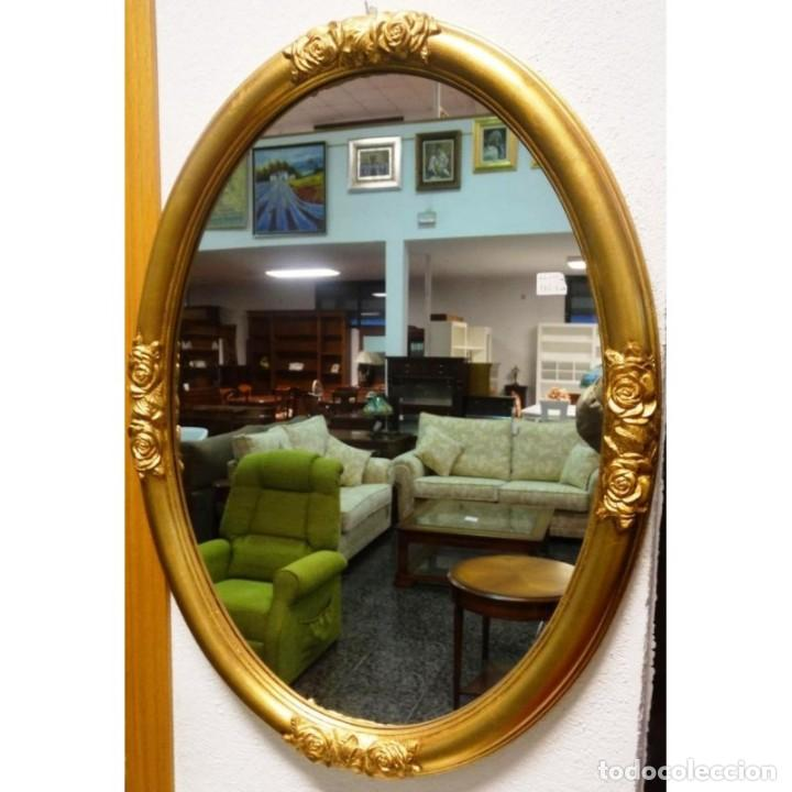 Espejo ovalado dorado medidas 58 x 79 comprar espejos for Espejo ovalado dorado