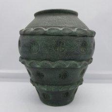 Antigüedades: ANTIGUA REPRODUCCIÓN DE VASIJA ROMANA EN TERRACOTA, HECHA Y ESMALTADA A MANO, SELLADA EN LA BASE .. Lote 73284335