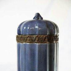Antigüedades: TIBOR AZUL , METAL Y CERAMICA, PROCEDENCIA CHINA.. Lote 73296073