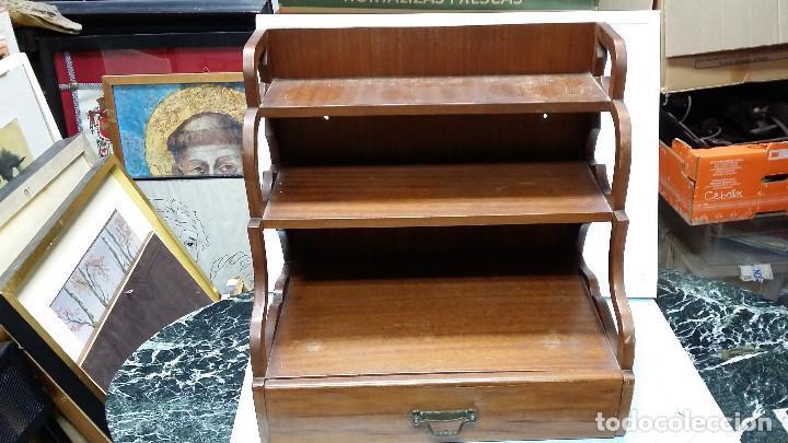 Antigüedades: estante con cajon - Foto 2 - 73305391