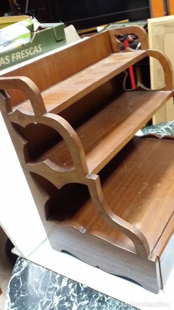Antigüedades: estante con cajon - Foto 3 - 73305391