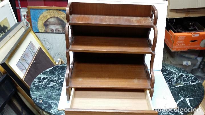 Antigüedades: estante con cajon - Foto 4 - 73305391