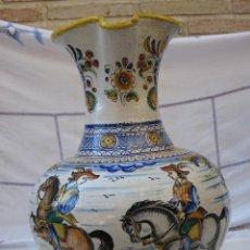 Antigüedades: JARRA GRANDE ANTIGUA EN CERAMICA VIDRIADA Y PINTADA, SANGUINO - TOLEDO.. Lote 73419527