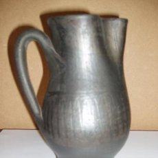 Antigüedades: ANTIGUA JARRA, JARRON DE CERAMICA NEGRA 17,5 CM. PIEZA DE COLECCIONISTA.. Lote 73456311