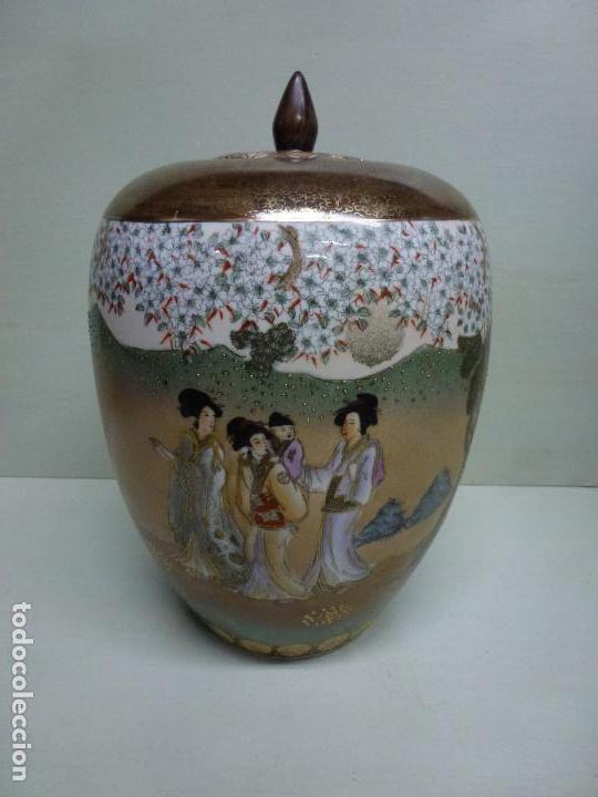TIBOR, PORCELANA CHINA. S. XX. ALEGÓRICO GEISAS. (Antigüedades - Porcelanas y Cerámicas - China)