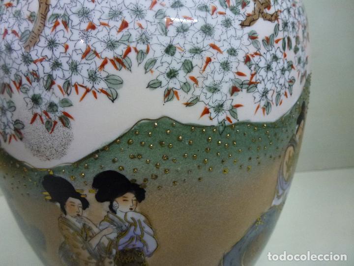 Antigüedades: Tibor, porcelana china. S. XX. Alegórico geisas. - Foto 2 - 73466499
