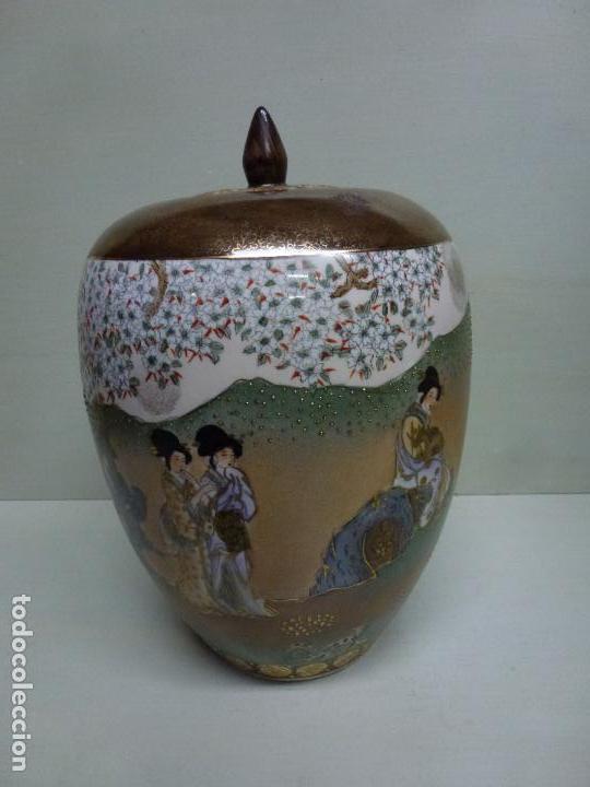 Antigüedades: Tibor, porcelana china. S. XX. Alegórico geisas. - Foto 4 - 73466499