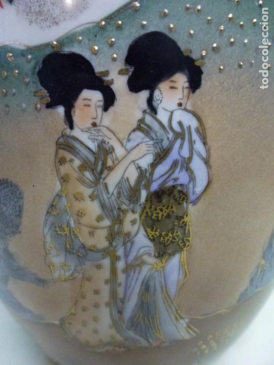 Antigüedades: Tibor, porcelana china. S. XX. Alegórico geisas. - Foto 7 - 73466499