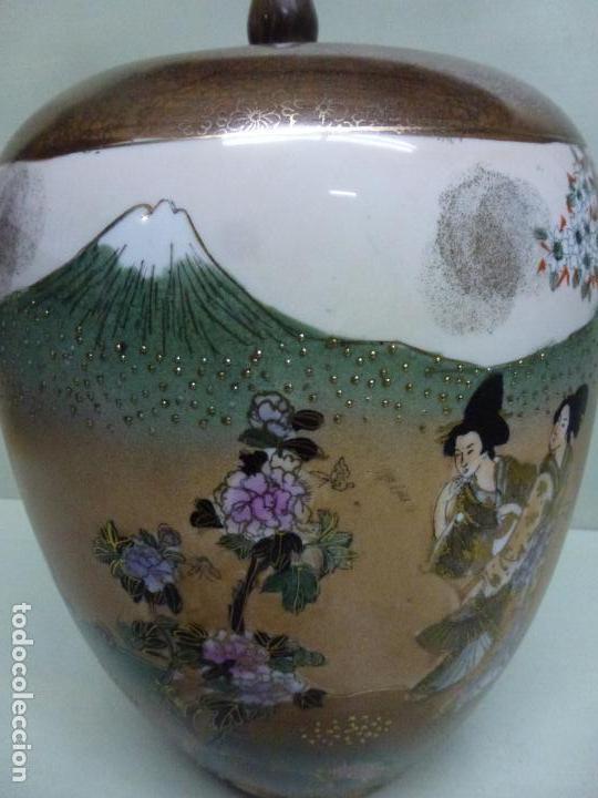 Antigüedades: Tibor, porcelana china. S. XX. Alegórico geisas. - Foto 10 - 73466499