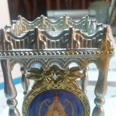 Antigüedades: ANTIGUA FIGURA RELIGIOSA LABRADA CON LA FIGURA DE LA VIRGEN EN EL CENTRO. Lote 81845496