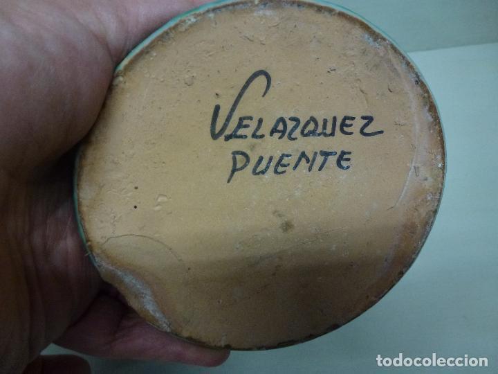 Antigüedades: Cantaro de Engaño. Puente del Arzobispo. S.XX. Firmado Velazquez - Foto 9 - 73473179