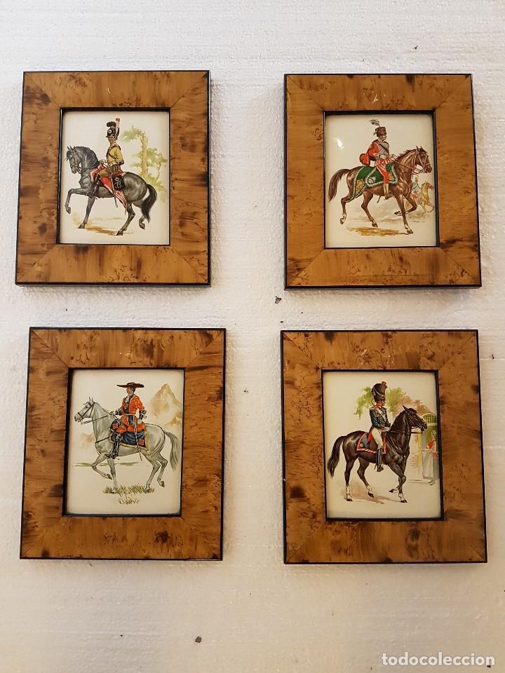 conjunto de 4 cuadros esmaltados - Comprar Marcos Antiguos de ...