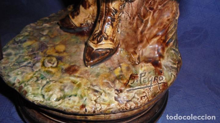Antigüedades: FIGURA DEL ESCULTOR ANTONIO PEYRO, MUJER CORDOBESA CON GARROCHA. MEDIDA SIN LA GARROCHA 58.5 cm.+ - Foto 9 - 73481143