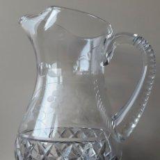 Antigüedades: JARRA GRANDE DE CRISTALDE BOHEMIA CON PIE DE PLATA. Lote 73484599