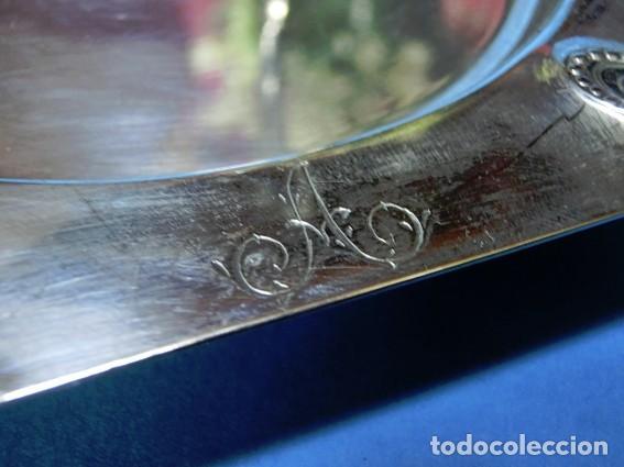 Antigüedades: ORIGINAL Y ANTIGUA BANDEJA DE ALPACA PARA BOTELLAS. ART DECÓ. HEXÁGONOS. BOTELLERO SOBREMESA - Foto 4 - 73490707