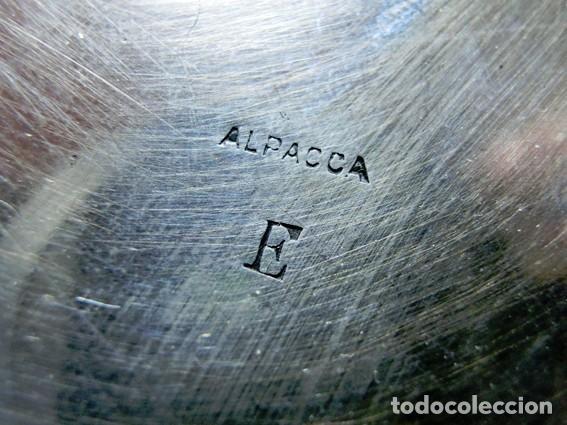 Antigüedades: ORIGINAL Y ANTIGUA BANDEJA DE ALPACA PARA BOTELLAS. ART DECÓ. HEXÁGONOS. BOTELLERO SOBREMESA - Foto 10 - 73490707