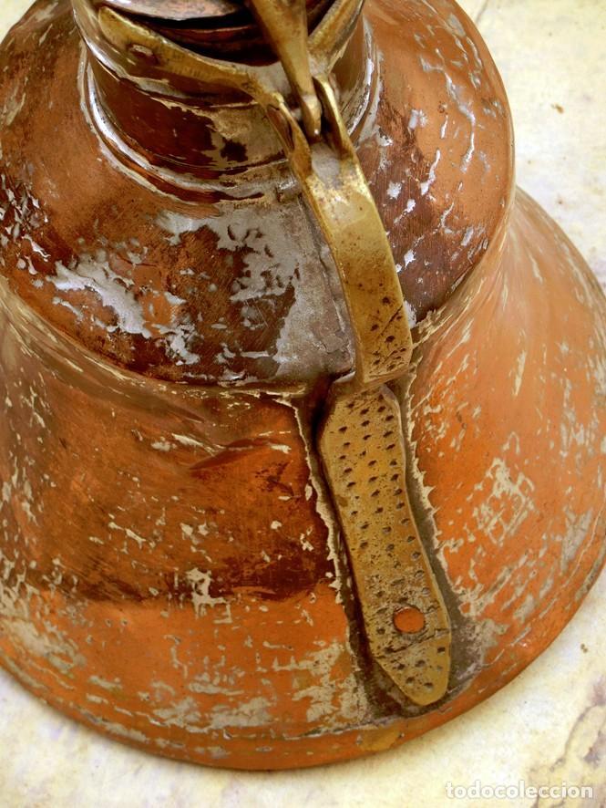 Antigüedades: ANTIGUA Y PRECIOSA JARRA DE COBRE CON TAPA - ASA DE HIERRO / BRONCE - DECORACIÓN RÚSTICA - - Foto 14 - 73497935