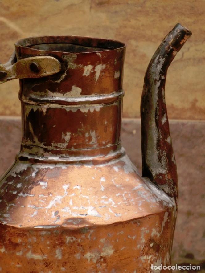 Antigüedades: ANTIGUA Y PRECIOSA JARRA DE COBRE CON TAPA - ASA DE HIERRO / BRONCE - DECORACIÓN RÚSTICA - - Foto 22 - 73497935