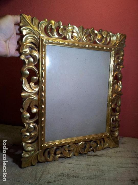 marco madera calada y dorado pan de oro fino para foto x