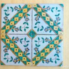 Antigüedades: C344.- CUADRO DE AZULEJOS CATALANES DEL S. XVIII DE LA SERIE L'ESCALETA. Lote 145261316