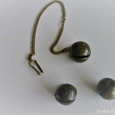 Antigüedades: 3 ANTIGUOS CASCABELES D BRONCE PROCEDENTES DE COLLERA CABALLAR 1, Nº 8 Y 2 Nº 6. Lote 73540095